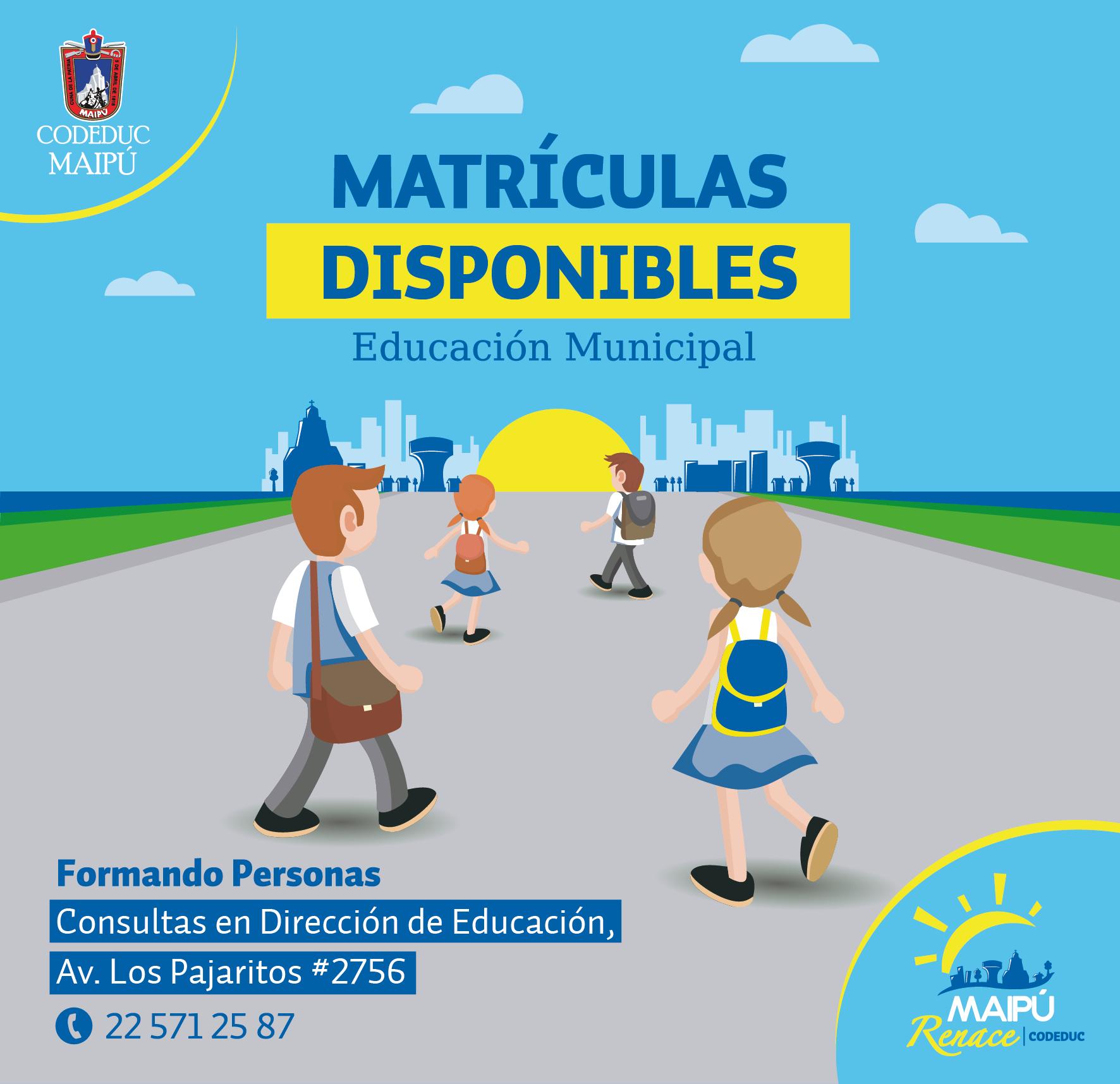Pop Up Matriculas Disponibles-01